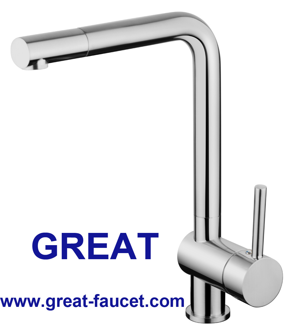 Rotatable Kitchen Faucet with 5 Year Warranty (chrome and nickel)