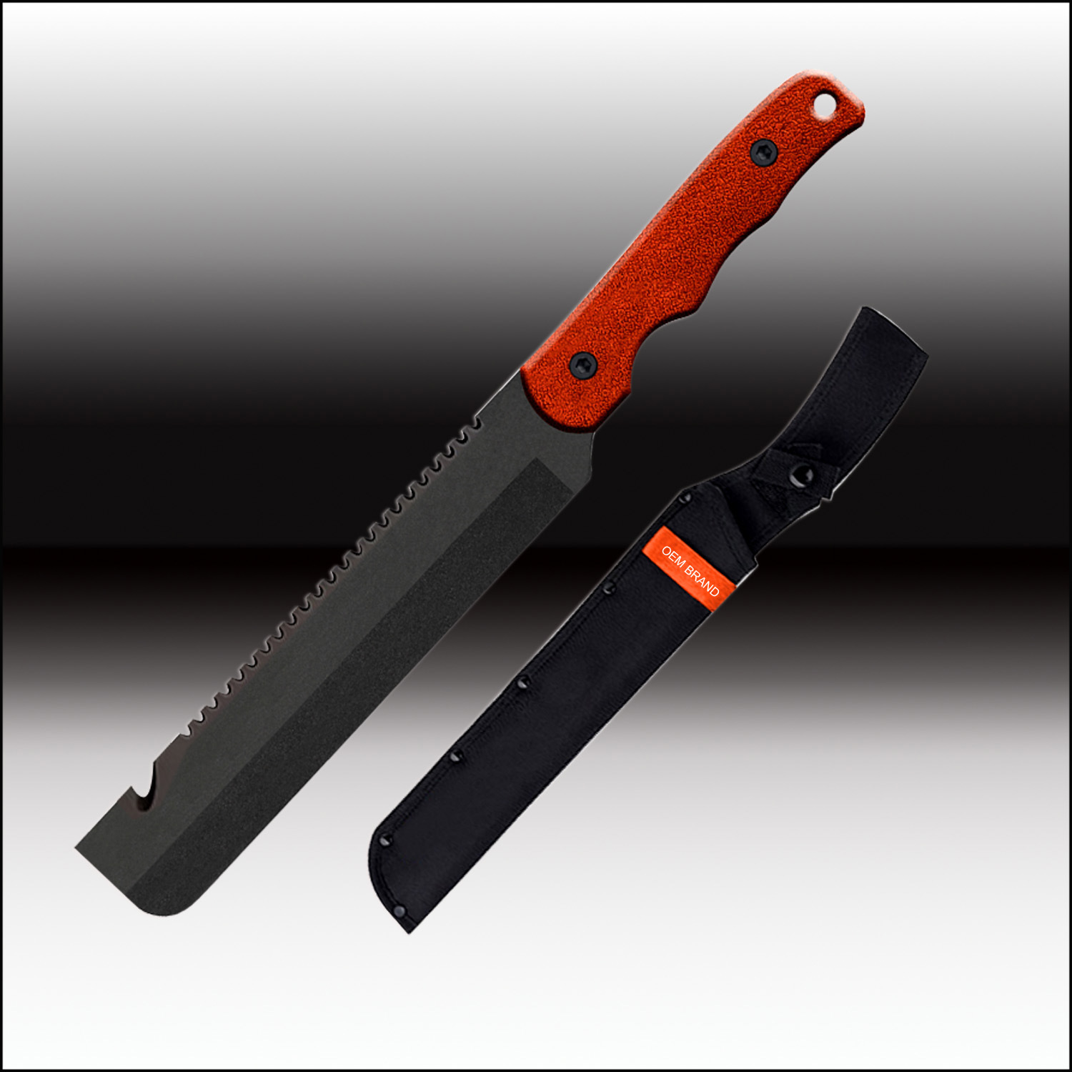 Machete Bowie Knife with a Saw