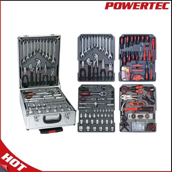 Powertec 186PCS Hand Tool Kit with Aluminium Case