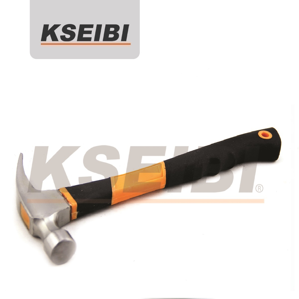 Kseibi Power Curved/Straight Head Claw Hammer with Rubber Handle