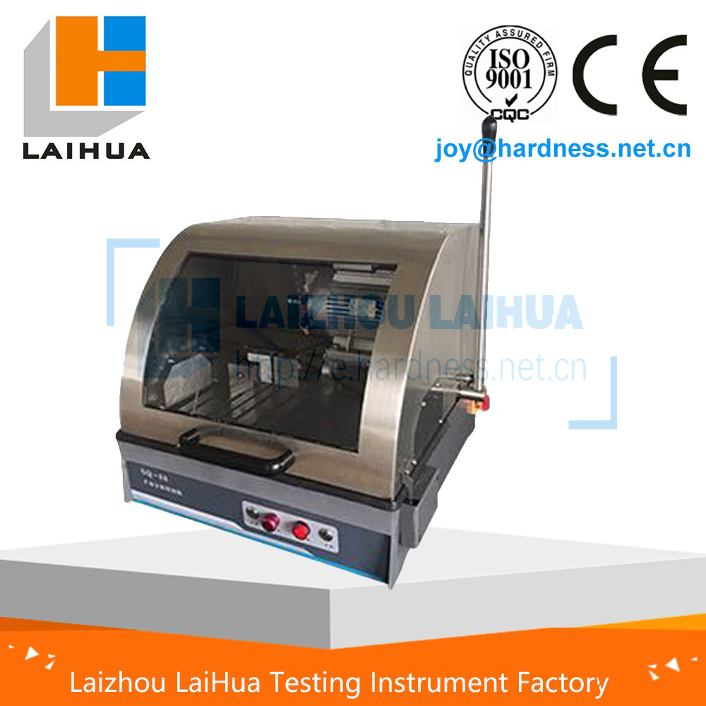 Metallographic Sample Preparation Cutting Machine with Water Cooling System, Sample Cutter with Water Tank, Sample Preparation Metal Saw