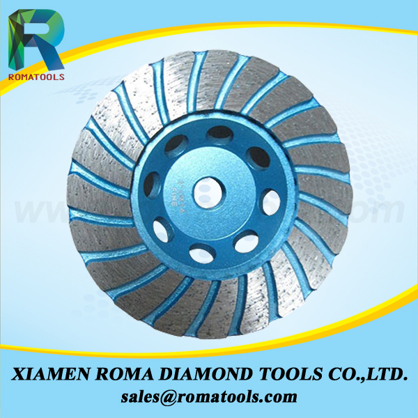 Romatools Diamond Cup Wheels for Granite, Concrete, Marble