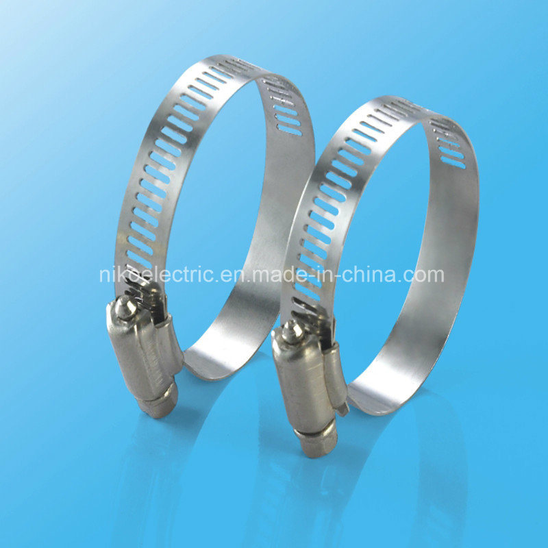 Stainless Steel German Type Hose Clamp for Liquid Rubber Pipes