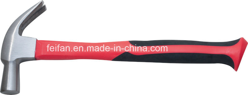 British Type Claw Hammer with Fiberglass Handle/Plastic Handle/TPR Handle