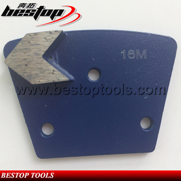 Sharply Single Arrow Segment Trapezoid Diamond Concrete Grinding Shoe