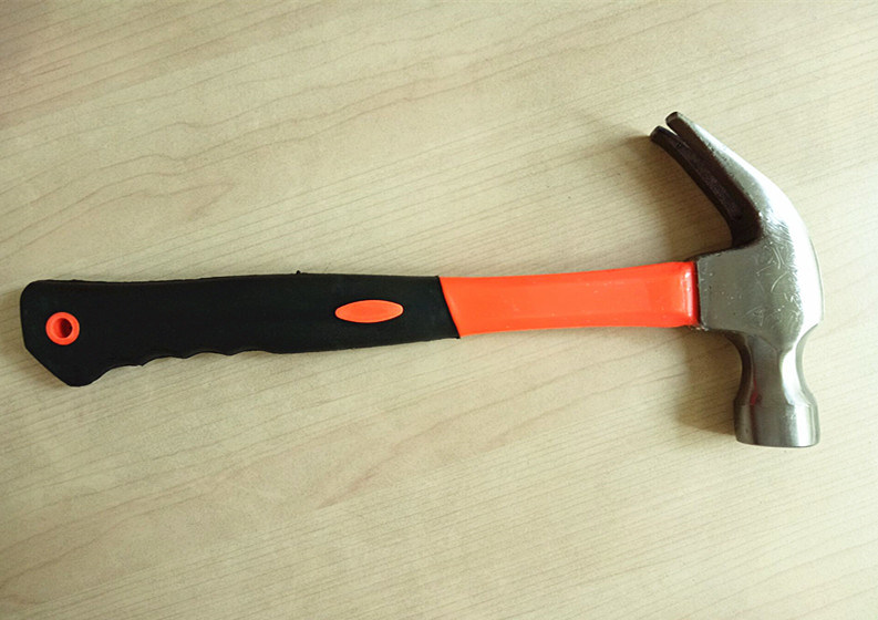 Hand Tool Claw Hammer with Rubber Handle