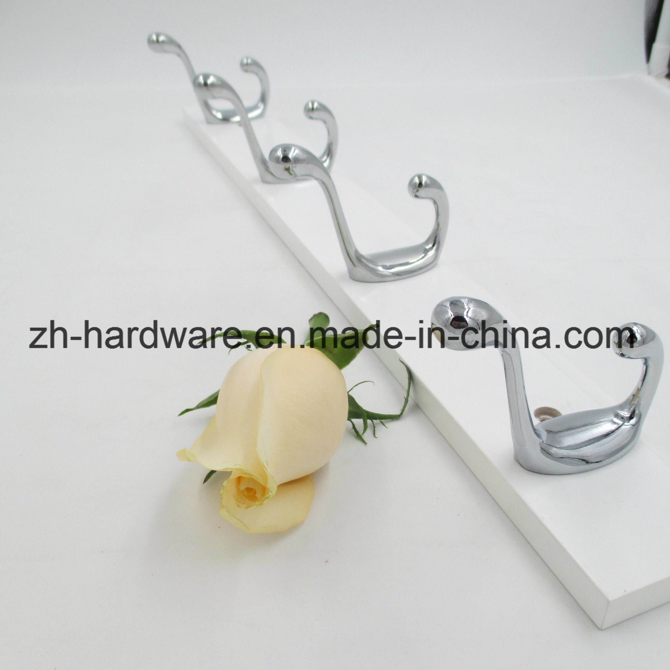 Hot Sale Beautiful Clothes Hook Wooden & Metal Board Hook (ZH-7036)