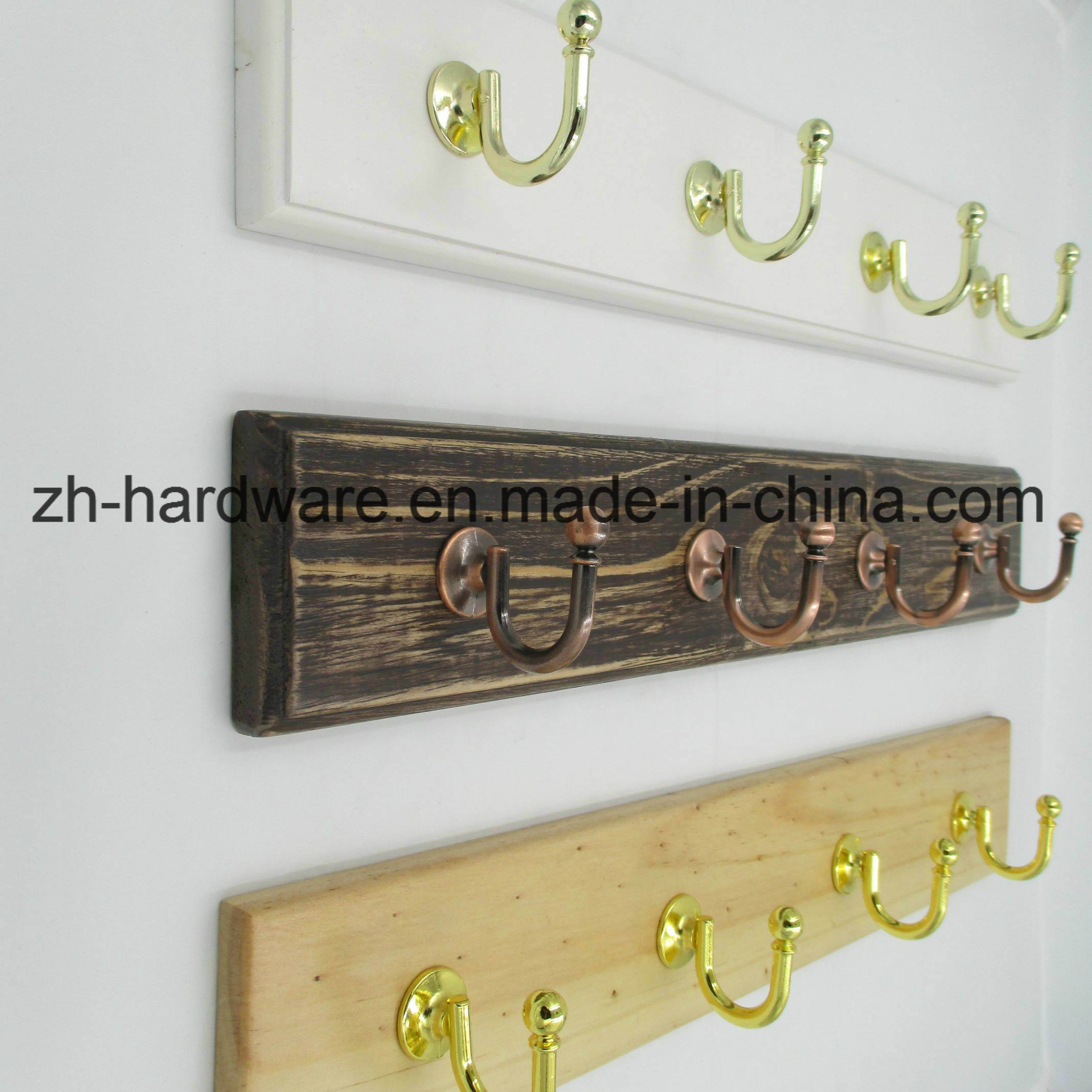 High-Grade Beautiful Clothes Hook Wooden & Metal Board Hook (ZH-7026A)