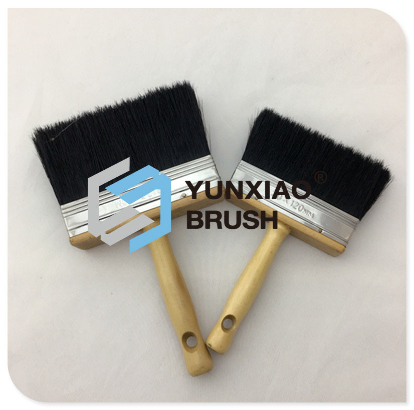 Black Bristle Ceiling Brush with Wood Handle Hardware