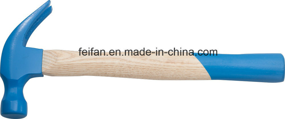 America Type Claw Hammer with Wooden Handle, Painted Hammer Head/Polish Hammer Head