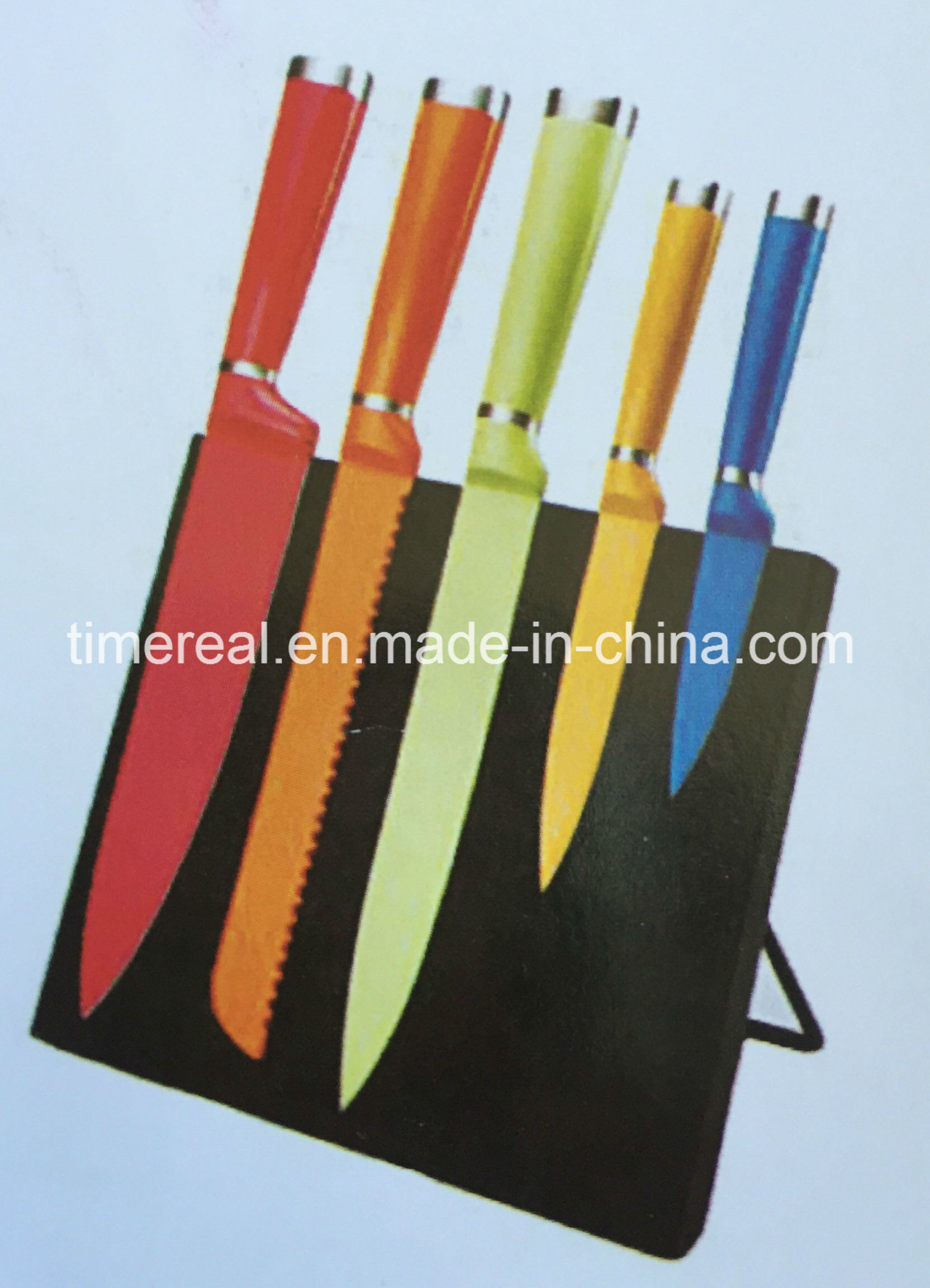 Stainless Steel Kitchen Knives Set with Painting No. Fj-0058