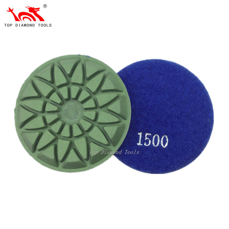 Diameter 3 Inch and 4 Inch Concrete Floor Diamond Polishing Pads with Good Gloss