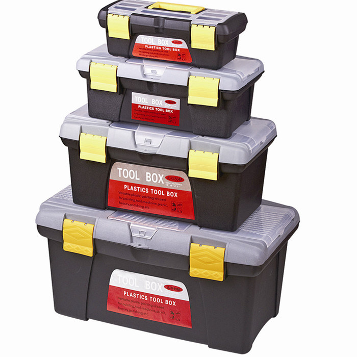 Plastic Tool Box Storage Set Have Different Size for Household