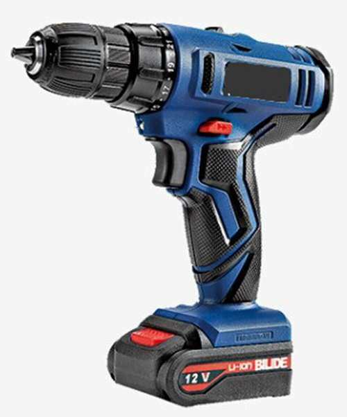 Cordless Driver Drill 12 V with 2 Battery and 1