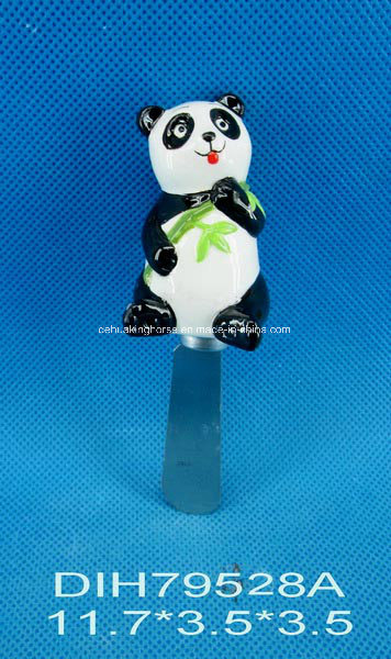 Cheese Knife with Ceramic Panda Handle