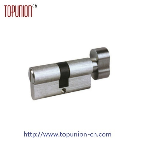 En1303 Profile Solid Brass Door Lock Cylinder with Knob