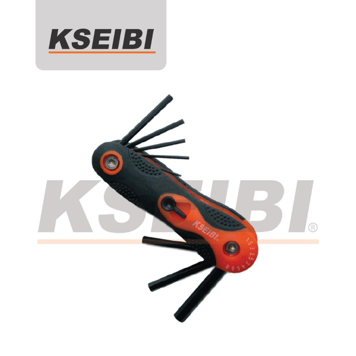 Convenient and Mu; Ti-Usage Folding Screwdriver Hex Key Wrench Set - Kseibi