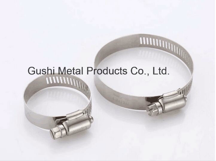 Adjustable Metal Hardware American Type Stainless Steel Pipe Hose Clamp in China