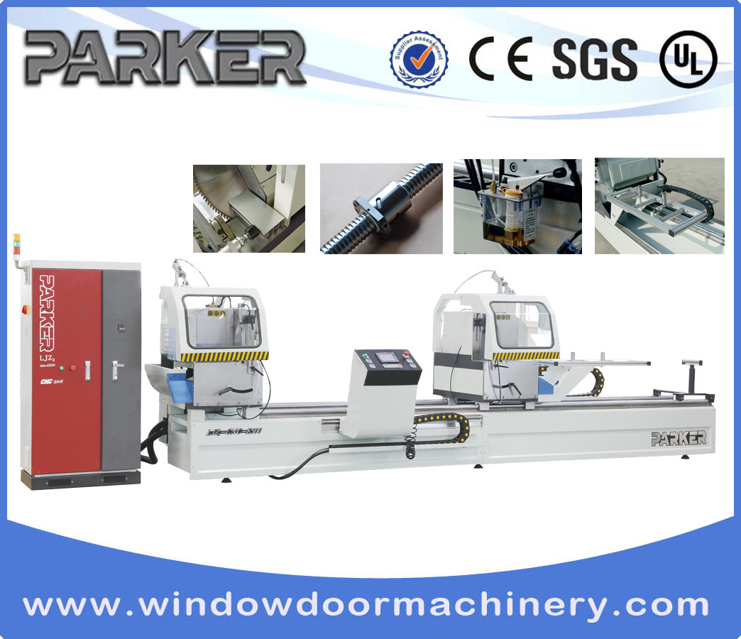 CNC Aluminum Profile Window Door Double Head Cutting Saw