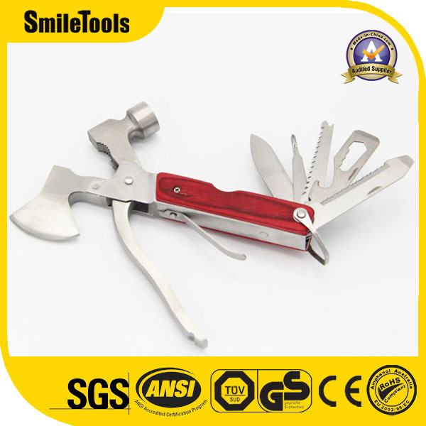 Outdoor Multi-Functional Hand Tool with Axe and Hammer