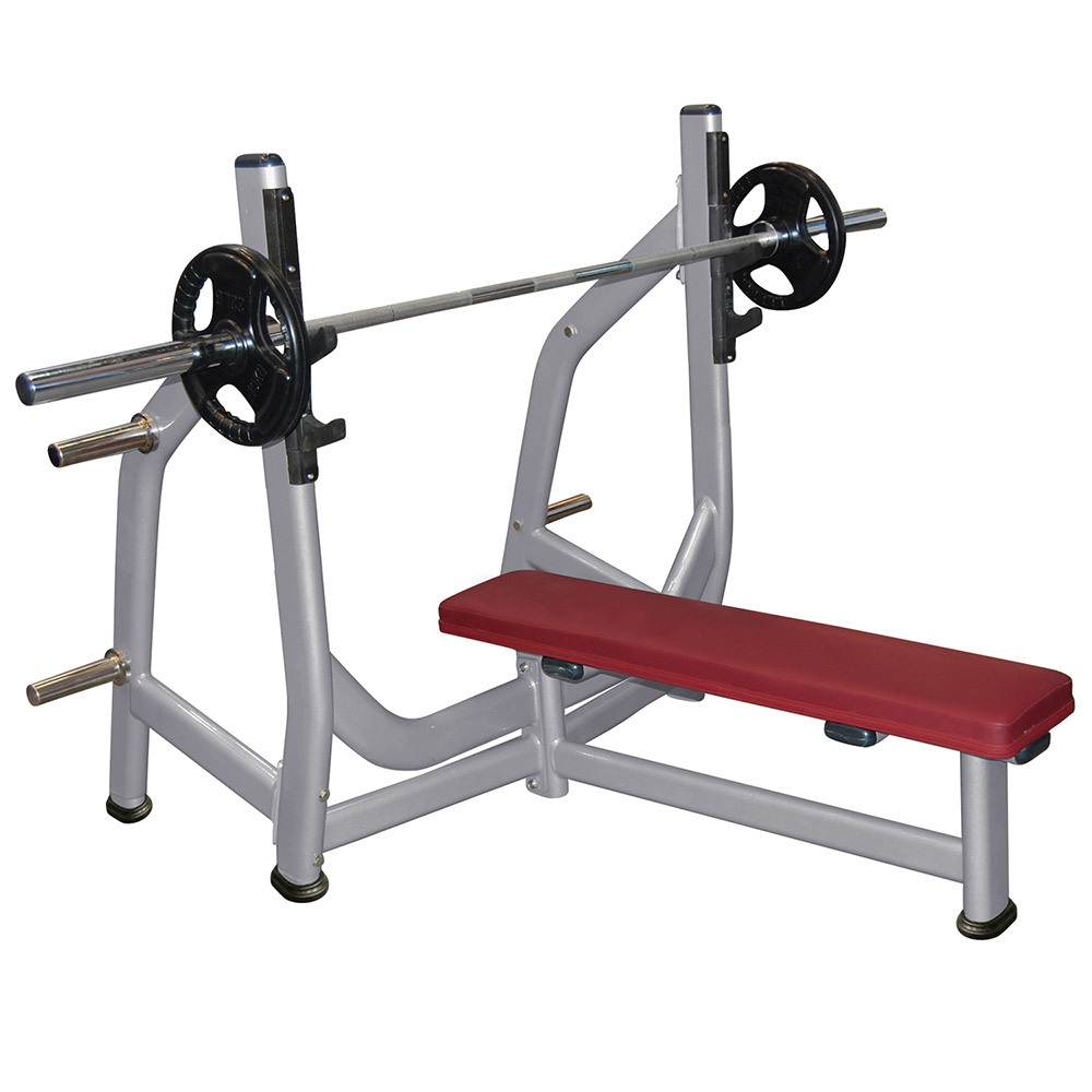 Olympic Flat Bench Gym Machine, Fitness Equipment, Hammer Strength, Body-Building