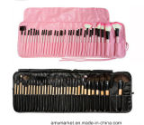 Professional Makeup Brush Set Black Pink Synthetic Hair Wood Handle Mini Cosmetic Brush Set 32PCS