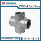 Stainless Steel Cross Threaded Fittings/ISO 4144 Pipe Fitting
