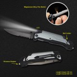 Survival Knife with LED Flashlight (#3486-717)