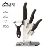 Ceramic Kitchen Ware for 5PCS Kitchen Knives with Block
