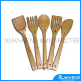 5PCS Bamboo Spoon Fork Knife Sets
