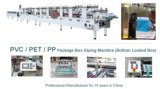 Automatic Clear Gluing APET PP PVC Box Making Machine