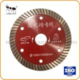 105mm Thin Sintered Continuous Rim Turbo Blade Diamond Saw Blade for Tile