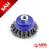 Sali Hcs Twisted Knot Wire Cup Brush Bowl Cup Brush