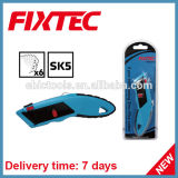Fixtec Hand Too Hardware High Quality Heavy Duty Zinc-Alloy Utility Knife with 6PCS Sk5 Blades
