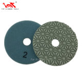 Diameter 4 Inch 3 Steps Diamond Flexible Polishing Pads for Stone Granite Marble
