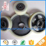 Wear Resistant Rubber Covered Roller Wheel / Industrial Caster with Metal Core for Machinery