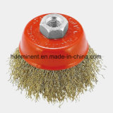 Bowl Cup Brass-Coated Steel Wire Brush