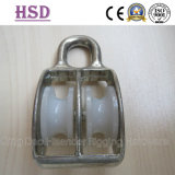 Fixed Double Pulley, Zinc Alloy, Plastic Wheel, E. Galvanized Pulley, Stainless Seel 316, Ss304 Rigging Hardware Marine Hardware
