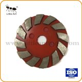 Red Velcro Back Metal Bond Diamond Flat Grinding Plate for Concrete.