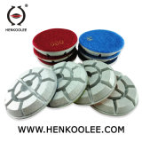 4 Inch Turtle Shell Shape Floor Polishing Pads Diamond Tools for Marble/Granite/Concrete