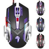 Ce RoHS Certificate High Precision Colorful LED 6D Wired USB Optical Computer Gaming Mouse (M-73)