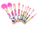 New Design 10PCS Cosmetic Brush Set with Acrylic Handle