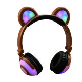 Cute Cartoon Kids Bear Ear Earphones Headphones