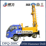 Dfq-200c 200m Drilling Rig with Air Drill Hammers and Bits