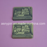 Custom Embossed Building Keychains Metal Vintage