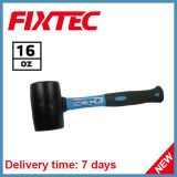 Fixtec Hand Tool 16oz Portable Hardware Rubber Hammer with Fiberglass Handle