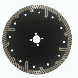 Protective Teeth Turbo Segmented Diamond Saw Blade for Granite, Sandstone