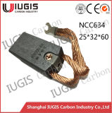 Best Quality Carbon Brush Ncc634 for Power Plant Motor Generator Use