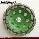 Diamond Double Row Segments Cup Grinding Wheel with 22.23mm Connector