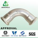 Sanitary Stainless Steel 45 Degree 90 Degree Thread Elbow